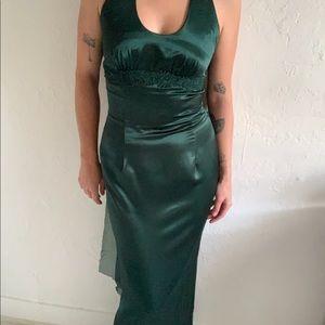 Vintage Jessica McClintock green holiday dress